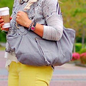 Karen Zambos linen summer bag